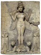 Burney relief. Queen of the Night. Old Babylonian. 1900 BC-1800 BC. British Museum.