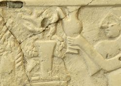 This limestone relief are from Department of Oriental Antiquities, Louvre Museum. Ca. 2500 BC.